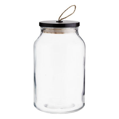 tarro-de-cristal-con-tapa. Glass jar with wooden lid. Madam Stoltz.Decoración. Decor.jpg