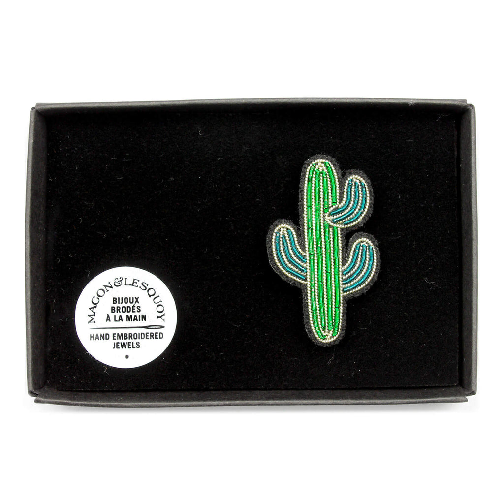 Broche Mini Cactus. Mini Cactus Brooch..Macon&Lesquoy. Decoración.Decor