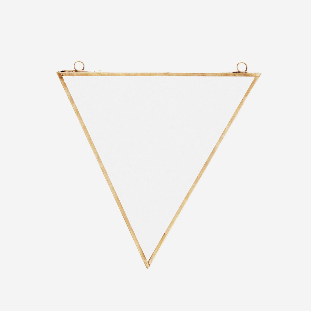 Brass Triangle Mirror
