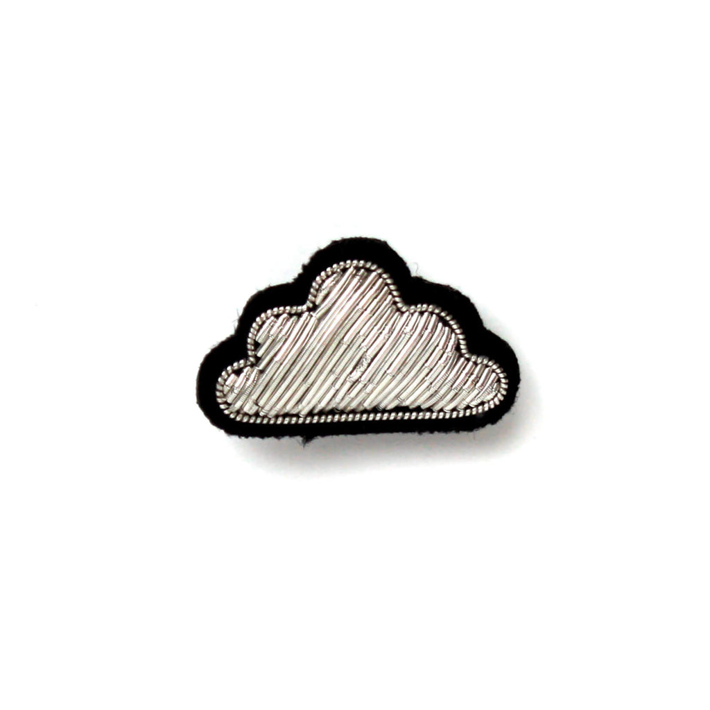 Broche Pequeña Nube Plateada. Small silver cloud brooch.Macon&Lesquoy. Decoración.Decor