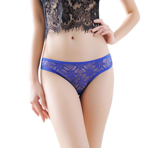 Women's Fashion Intimates Sexy Lace Printing Briefs Panties Thongs G-string 8 Colors Lingerie Underwears