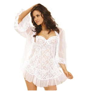 One Set Lady Women's Sexy Lace Strapless Corset Sexy Lingerie Women Nightwear Underwear Sleepwear Plus Size