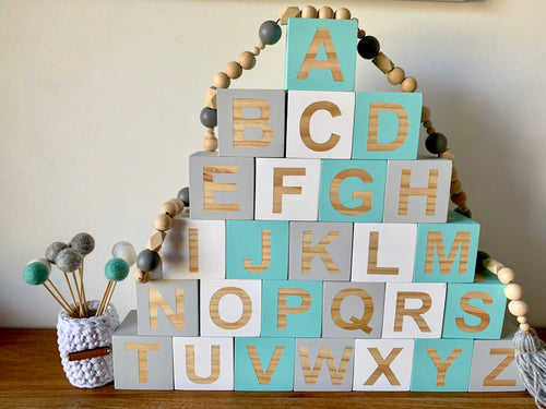 7cm Alphabet Blocks