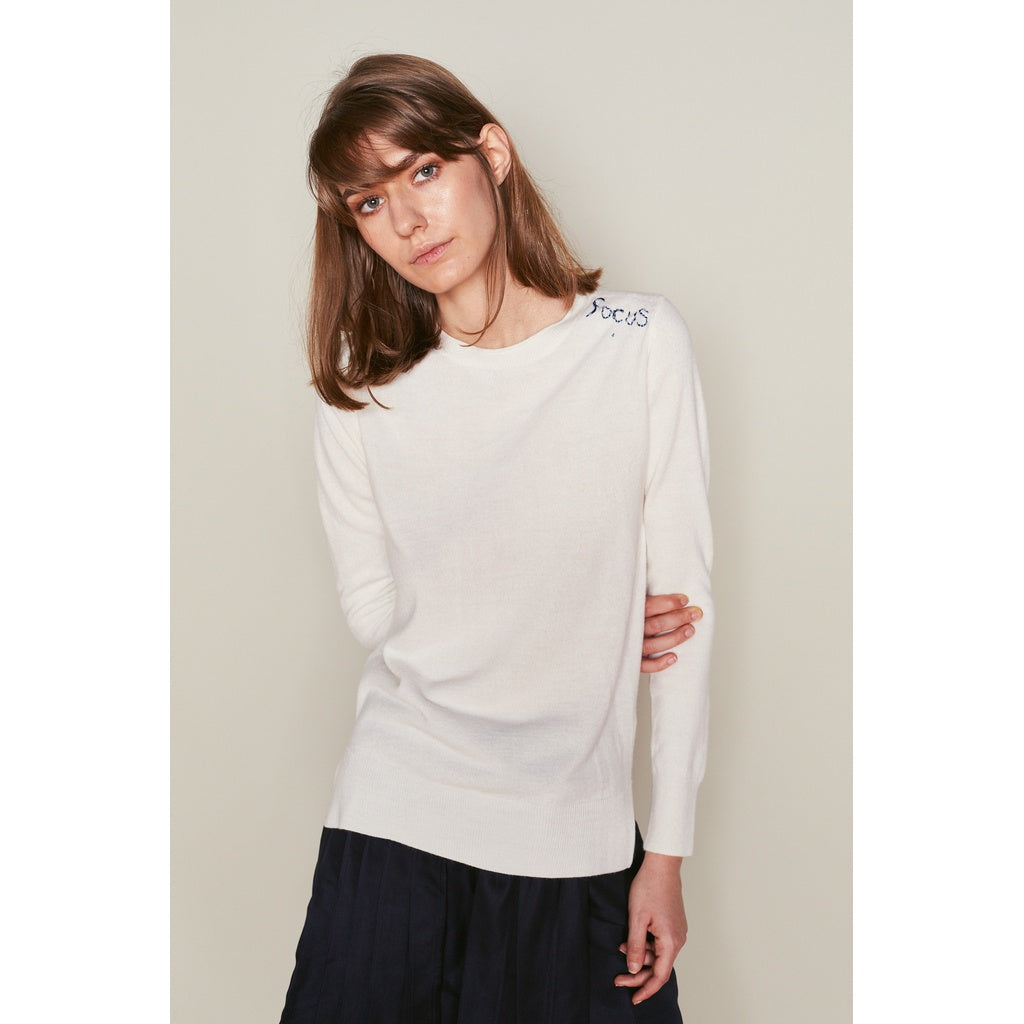 Focus Off White Pullover Women - Apparel - Shirts - Henleys- Iconette