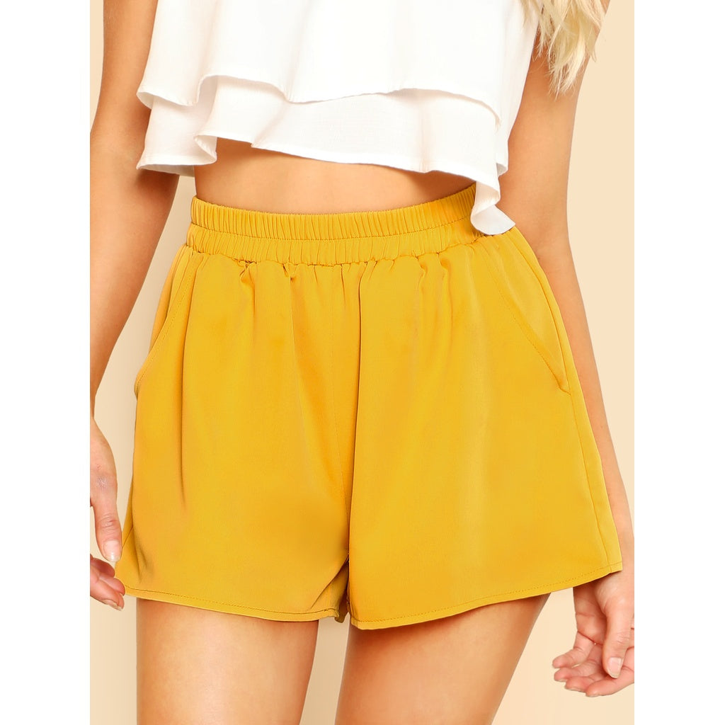 Milla Elasticized Waist Wide Leg Shorts - Iconette