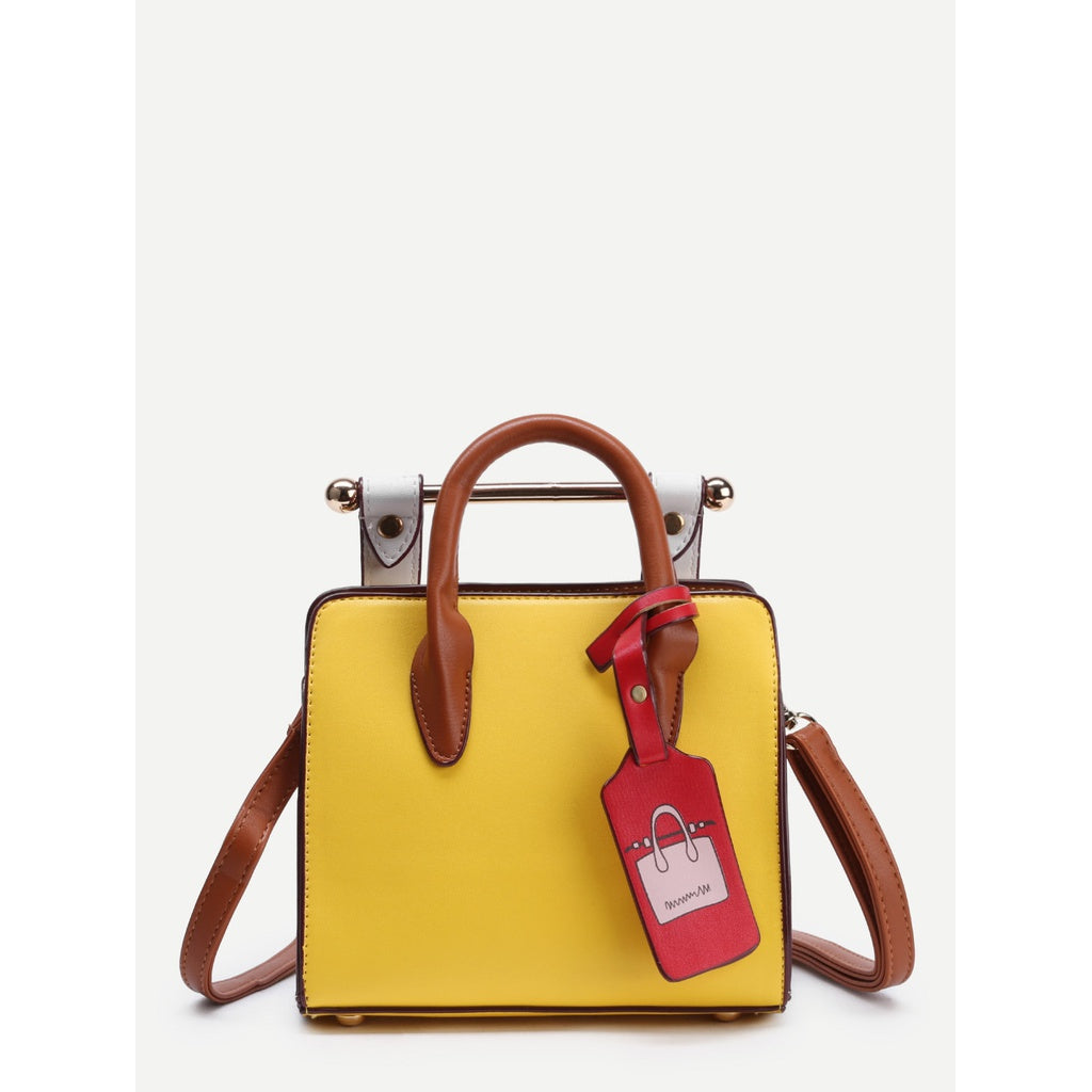 Structured Shoulder Bag With Handle - Iconette