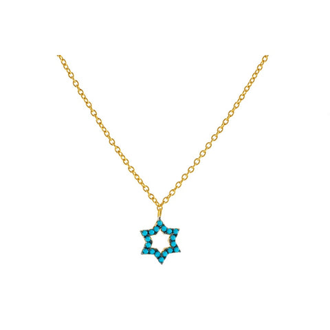 Star of David Pendant Necklace Women - Jewelry - Necklaces- Iconette