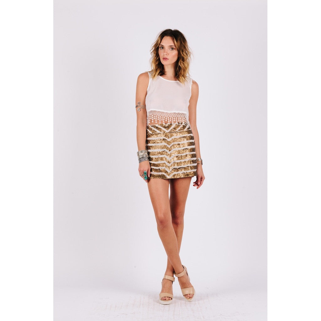 Olivia Sequined Skirt Women - Apparel - Shirts - Tunics- Iconette
