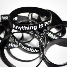 Anything is Possible - Black Silicone Bracelet
