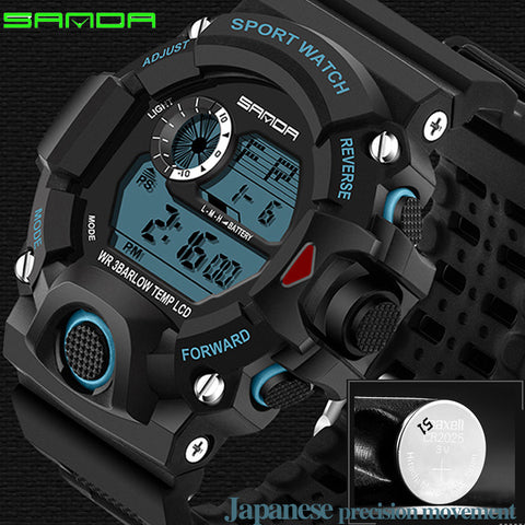 Men's Military Style LED Sports Watch