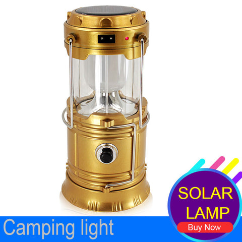 LED Collapsible Flashlight Lantern - Solar and USB Rechargeable