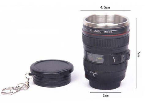 Mini Stainless Steel Camera Lens Mug 60ml 2.1oz