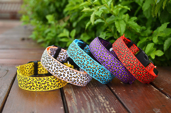 Luminous LED Leopard Print Dog Collar