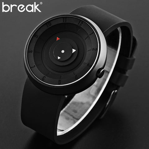 BREAK Futuristic Luxury Black Waterproof Wristwatch