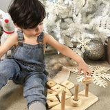 Triple Stacker - Wooden Stacking Toy
