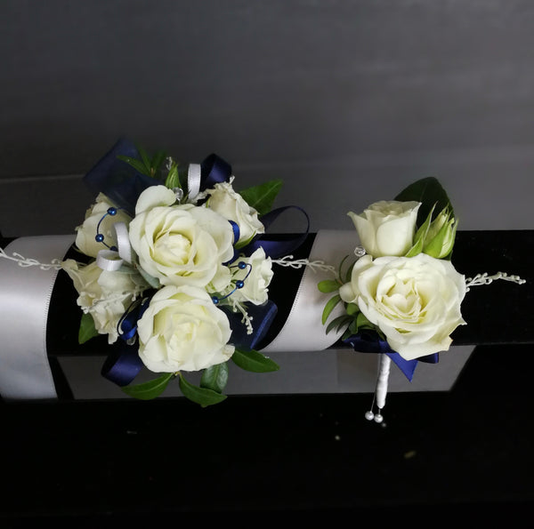 Matching Multiple Flower Corsage & Buttonhole Set