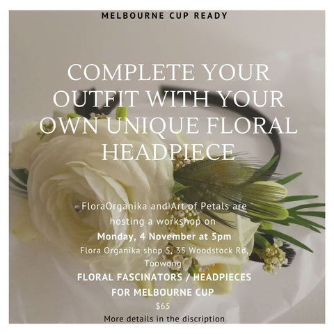 Melbourne Cup Floral Headpiece Workshop