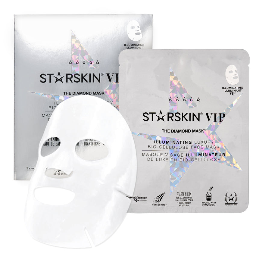The Diamond Mask VIP iIlluminating Luxury Bio-Cellulose Face Mask
