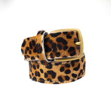 Jaquar print Leather Belt