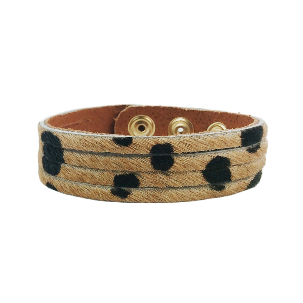 cheetah print thin cuff