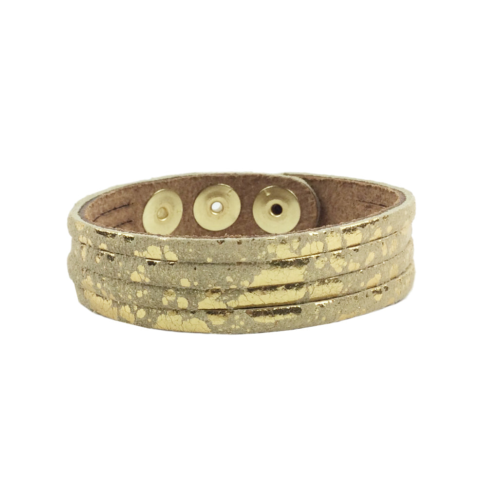 thin cuff mottled gold