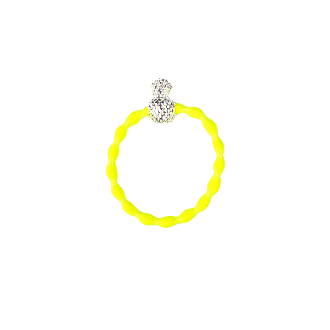 Pineapple Wristee - Neon Yellow and Silver