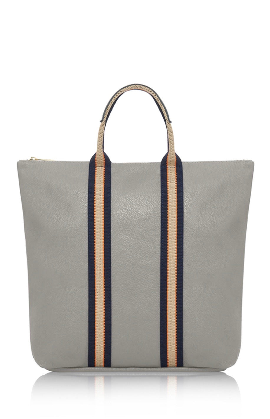 Leather Tote City Rucksack - Grey