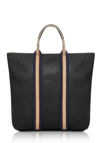 Leather Tote City Rucksack - Black