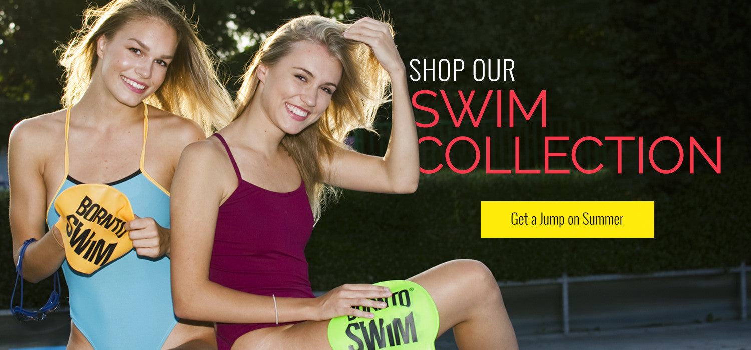 shop our collection born to swim