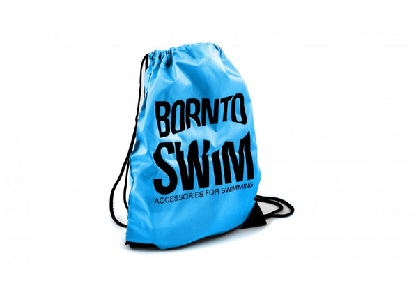 Swim Gear String Bag - Blue with Black Logo