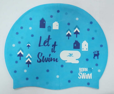 Limited Edition Winter Holiday Silicone Swim Cap