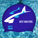 Regular Silicone Swim Cap - Best Dad Ever