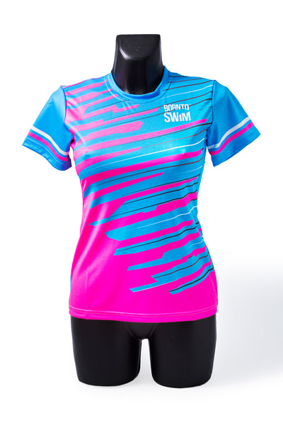 Born To Swim CoolMax T-Shirt Woman