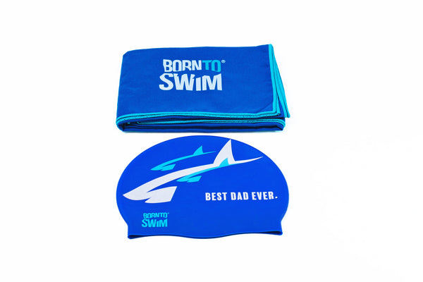 Best Dad Ever Set - Silicone Cap + Microfiber Towel