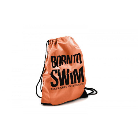 Swim Gear String Bag - Orange with Black Logo