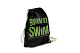 Swim Gear String Bag - Black with Green Logo