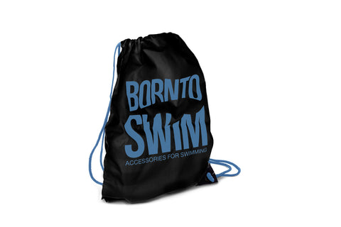 Swim Gear String Bag - Black with Blue Logo