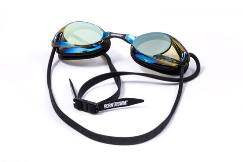 Adult Freedom Swim Goggles with Mirror Lenses Black