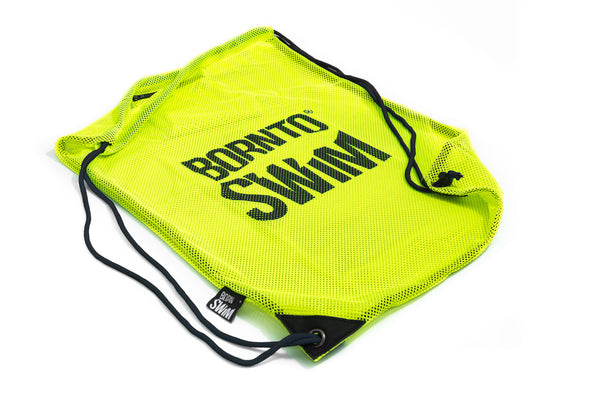 Swim Gear String Mesh Bag - Yellow with Black Logo