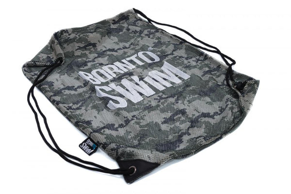 Swim Gear String Mesh Bag - Camouflage with White Logo