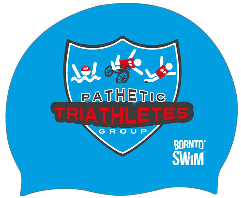 PATHETIC TRIATHLETES GROUP Regular Silicone Swim Cap
