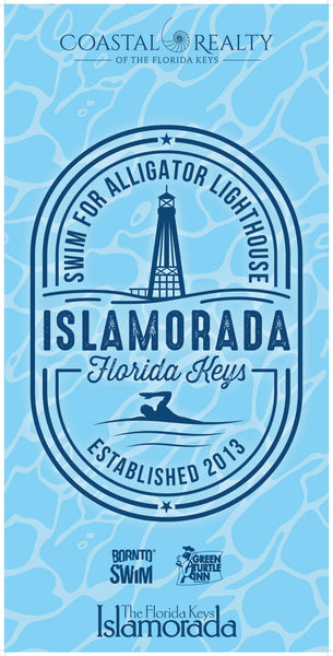 Islamorada Swim for Alligator Lighthouse Limited Edition Microfiber Towel