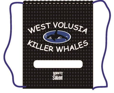 WEST VOLUSIA KILLER WHALES Swim Gear String MESH Bag