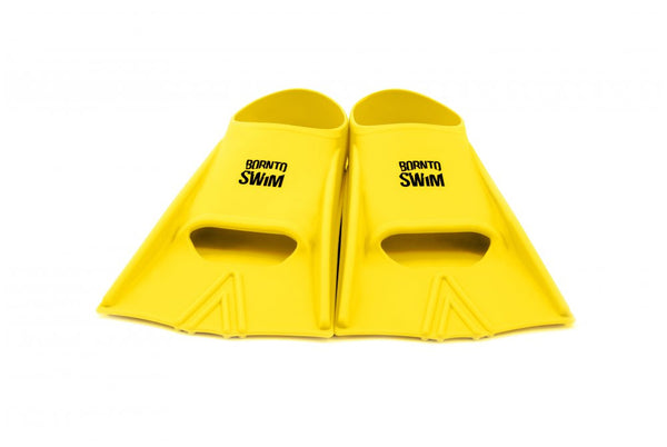 Adult Silicone Swim Fins - Neon Yellow