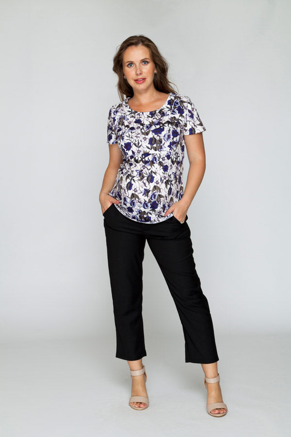 Cropped Black Pants - Bubba Belly Maternity Wear