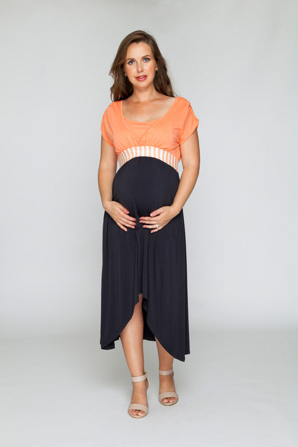 Peaches and Cream Maxi Dress - Bubba Belly Maternity Wear