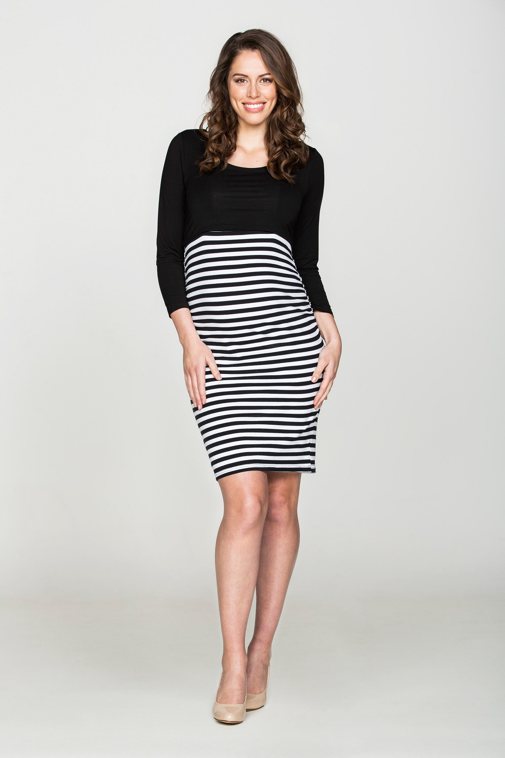 Noir et Blanc Dress - Bubba Belly Maternity Wear