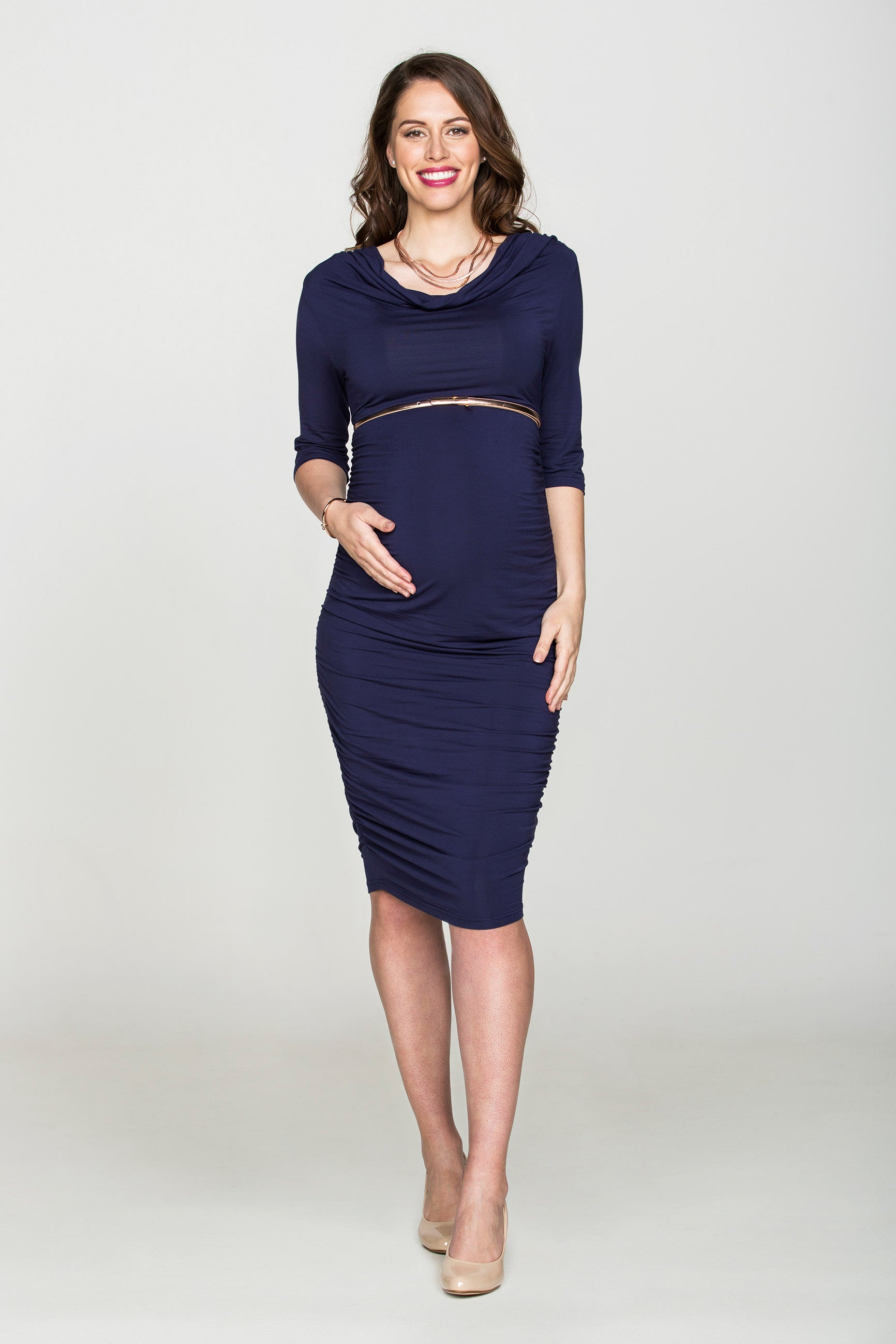 Divine Sapphire Dress - Bubba Belly Maternity Wear