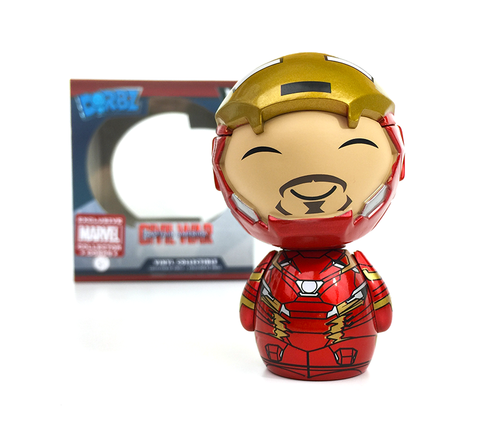 Funko Dorbz Marvel Civil War #128 Iron Man (Unmasked) Collector Corps Exclusive
