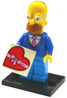 LEGO Simpsons Series 2 Minifigures Homer Simpson with Tie & Jacket